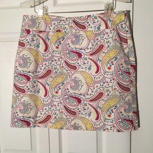 Talbots paisley a-line skirt size 12